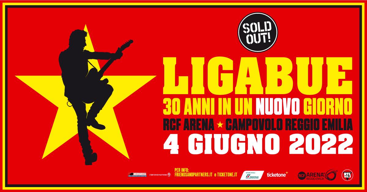 4 giugno 2022: nuova data per il live di Ligabue alla RCF Arena
